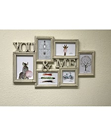 6 Photo Frames with Wood Grain 5 Photo Frames
