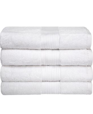 Bliss Luxury Combed Cotton Bath Towel, 4 Pack