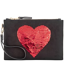 INC Molyy Sequin Heart Wristlet, Created for Macy's
