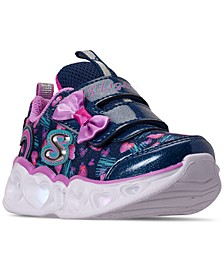 Toddler Girls S Lights Color Me Hearts Light-Up Stay-Put Closure Casual Sneakers from Finish Line