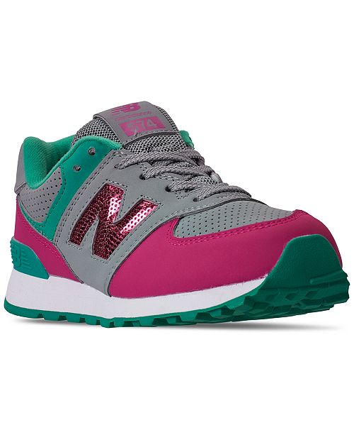 New Balance Little Girls 574 Glitter Casual Sneakers from Finish Line