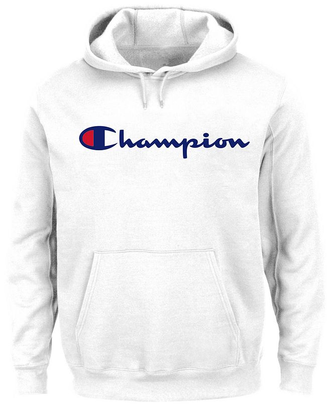 Champion Men's Big & Tall Logo Powerblend Fleece Hoodie