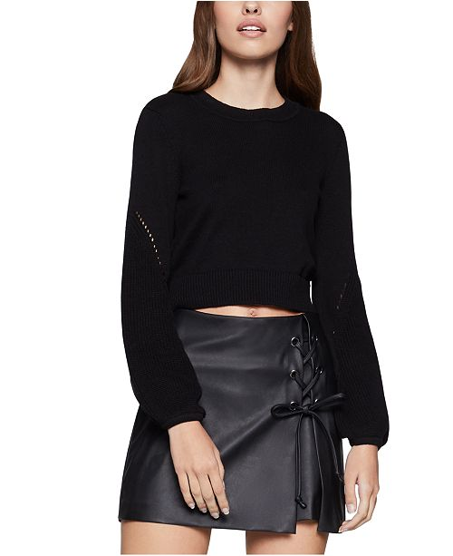 BCBGeneration Cotton Cropped Sweater