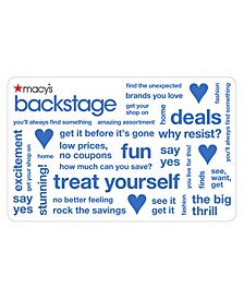 Backstage E-Gift Card