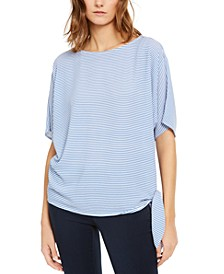 Striped Side-Tie Top, Regular & Petite Sizes