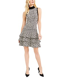 Ruffled Animal-Print Dress