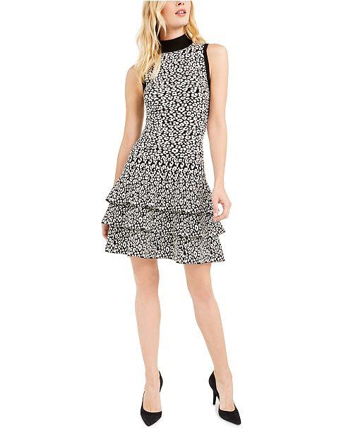 Michael Kors Ruffled Animal-Print Dress