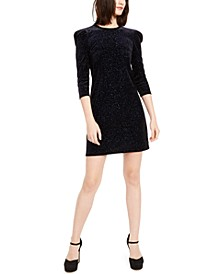 Glitter Puff-Shoulder Sheath Dress, Regular & Petite Sizes