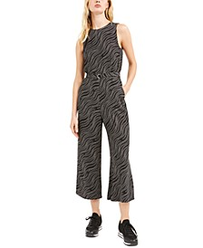 Printed Wide-Leg Jumpsuit, Regular & Petite Sizes