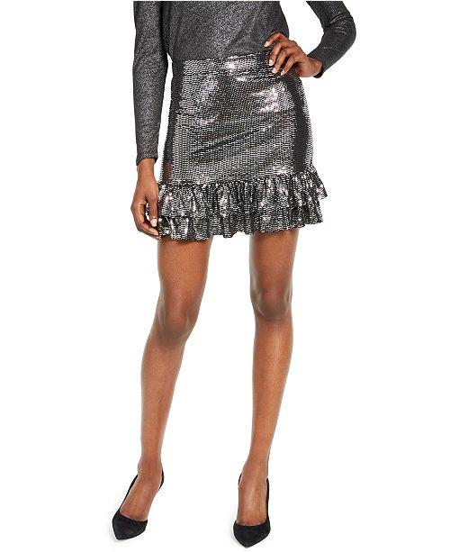 Michael Kors Mirror Metallic Tiered Skirt, Regular & Petite Sizes