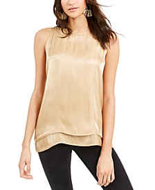 Iridescent Layered-Hem Top