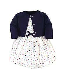 Toddler Girl Organic Dress and Cardigan, Set