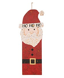 Rusty Metal Santa Decor