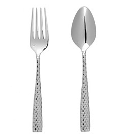 Lucca Faceted 2pc Serving Set