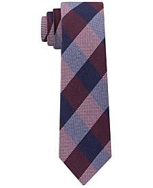 Men's Slim Textured Check Tie