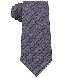 Men's Slim Overlapping Stripe Silk Tie