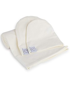 Jersey Cotton Swaddle Blankets with Baby Hat
