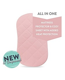 Water Resistant Quilted Hourglass Bassinet Sheet with Heat Protection