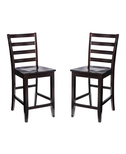 TTP Furnish 2 Sturdy Dining Chairs Counter Height