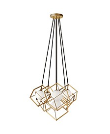 6 Light Halogen Pendant