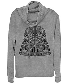 Star Wars Darth Vader Sugar Skull Helmet Cowl Neck Sweater
