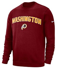 Men's Washington Redskins Fleece Club Crew Sweatshirt