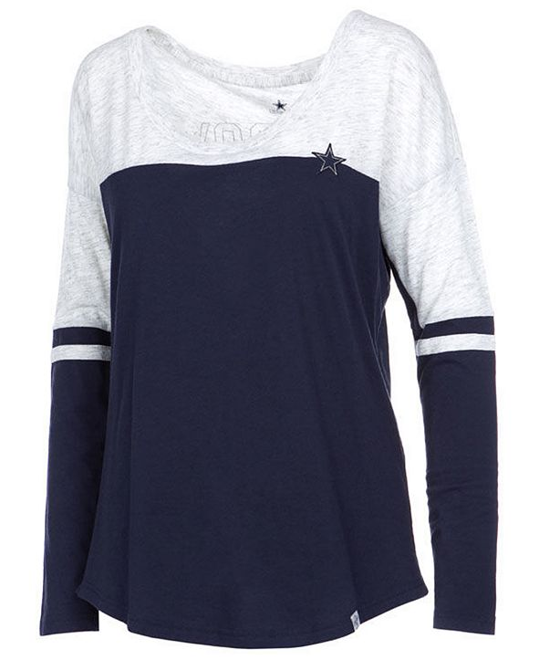 Authentic NFL Apparel Women's Dallas Cowboys Talley Long Sleeve T-Shirt