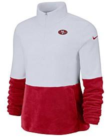 Women's San Francisco 49ers Half-Zip Therma Fleece Pullover