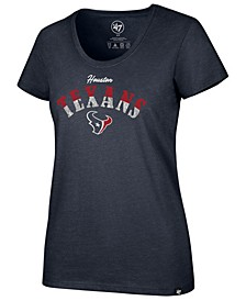 Women's Houston Texans Sparkle Dip Club T-Shirt