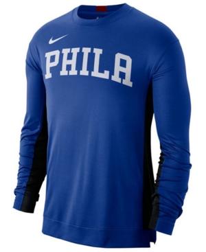 Nike Men's Philadelphia 76ers Dry Top Long Sleeve Shooter Shirt
