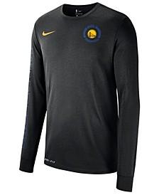 Men's Golden State Warriors Logo Dry Long Sleeve T-Shirt