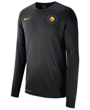 Nike Men's Golden State Warriors Logo Dry Long Sleeve T-Shirt