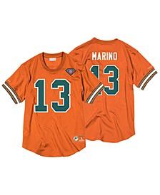 Men's Dan Marino Miami Dolphins Name & Number Mesh Crewneck Top