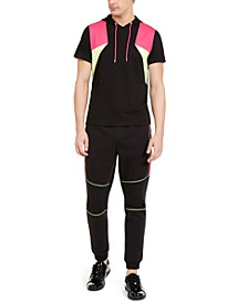 INC Men's Sweet Tooth Short Sleeve Hoodie & Portrait Joggers, Created for Macy's