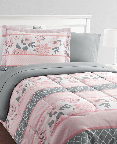 Mytex Carley Stripe 8-Piece Twin Bed in a Bag Set