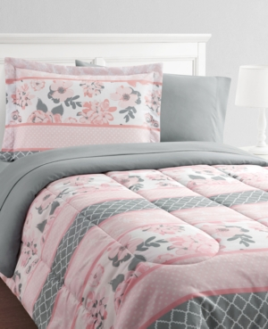 Carley Stripe 8-Piece Twin Bed in a Bag Set Bedding
