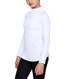 Big Girls Fitted Cold Gear Mock Turtleneck Top