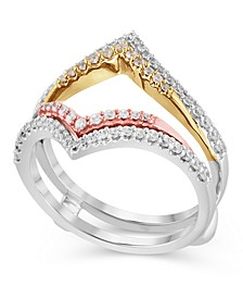 Certified Diamond (1/2 ct. t.w.) Guard Ring in 14K White, Rose and Yellow Gold