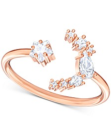 Penelope Cruz Moonsun Rose Gold-Tone Crystal Open Ring