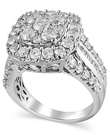 Certified Diamond (3 ct.t.w.) Engagment Ring in 14k White Gold