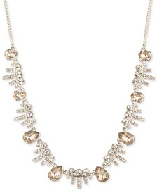 "Crystal Statement Necklace, 16"" + 3"" extender"