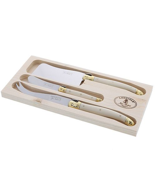 Jean Dubost 3-pc Cheese Set with Handles