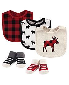 Baby Boy and Girl 5 Piece Bib and Sock Set