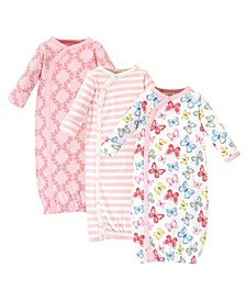 Baby Girl Kimono Gowns, Set of 3