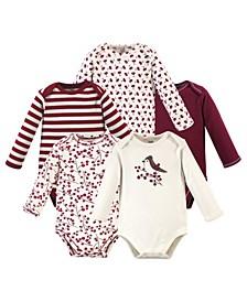 Baby Girl Bodysuits, Set of 5