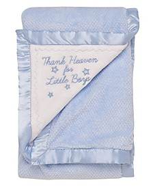 Baby Boys Thank Heaven Textured Blanket