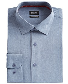 Men's Slim-Fit Performance Stretch Chambray Dress Shirt