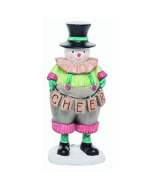 Trans Pac Resin Green Christmas Creative Snowman Figurine