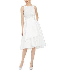 Adrianna Papell Sequin Mikado Bridal Dress