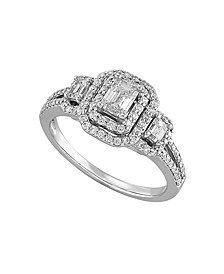 Diamond (1 ct. t.w.) Engagement Ring in 14K White Gold